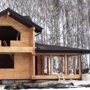 Дом-баня из клееного бруса в Нижнем Новгороде