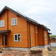Дом из клееного бруса в коттеджном поселке Янтарный