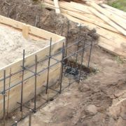 Заливка фундамента деревянного дома в Нижегородской области